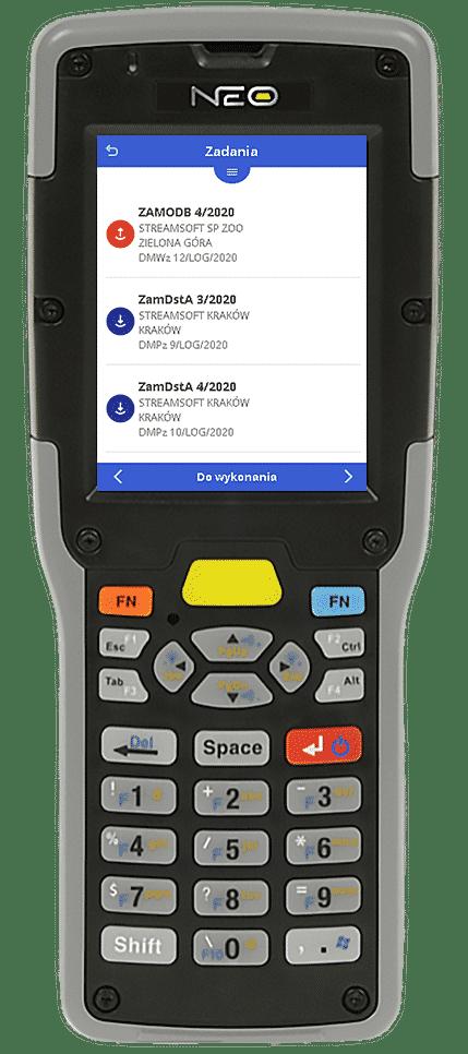Lista zadań na urządzeniu handheld