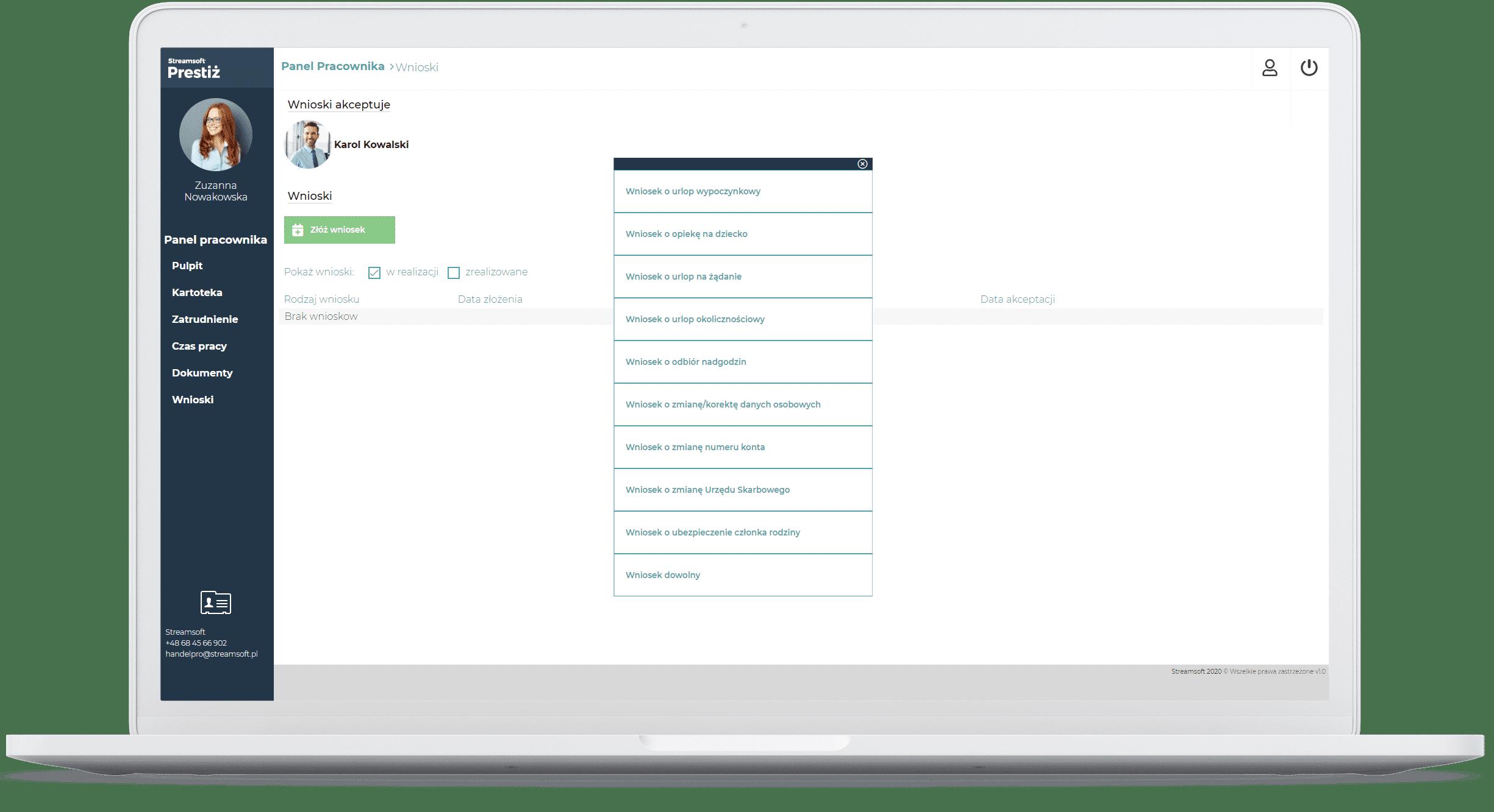 Wnioski pracownicze online