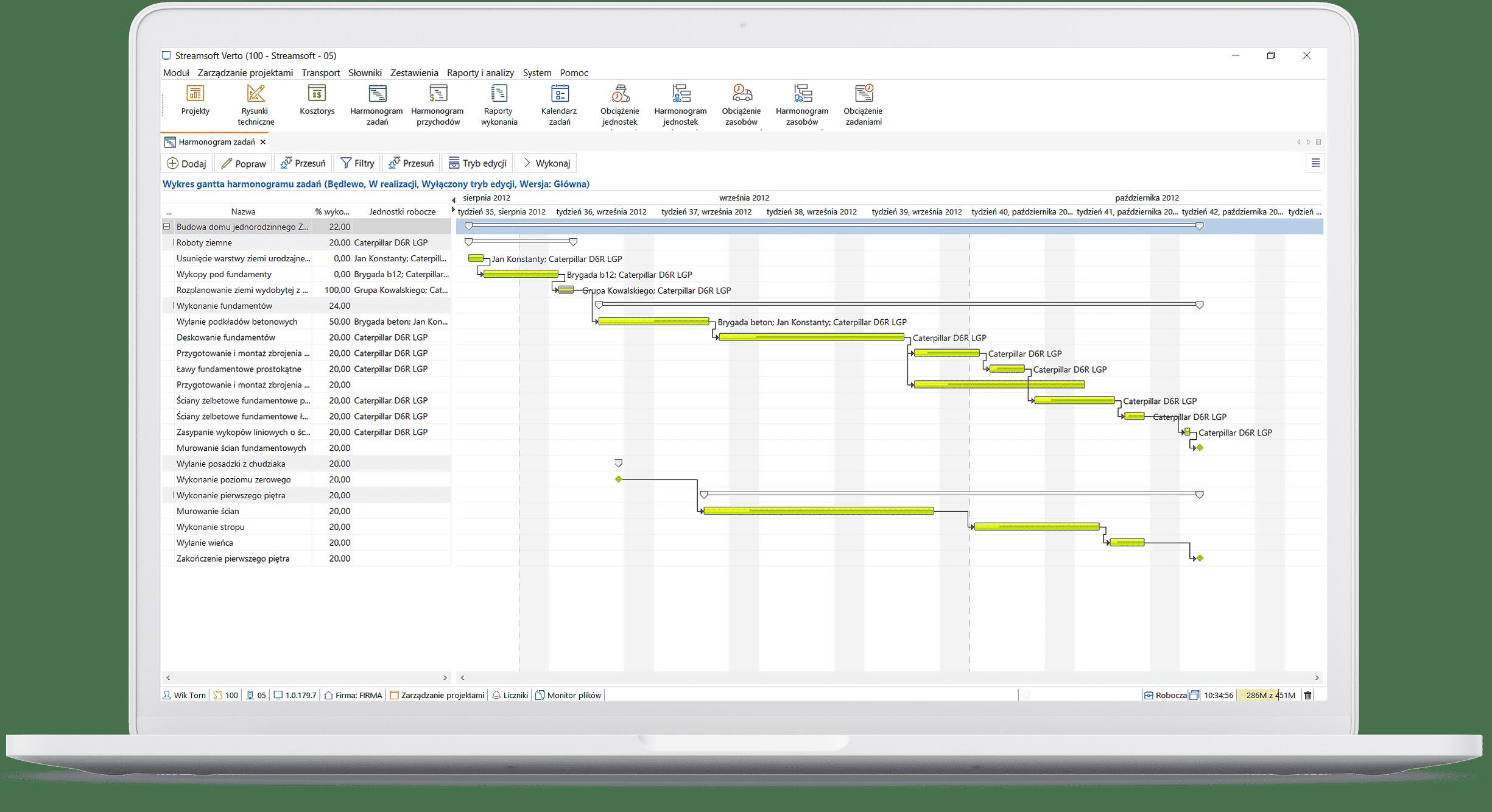 WBS - struktura podziału pracy w projekcie